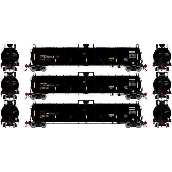 Athearn Genesis 25652   33,900-Gallon LPG Tank/Early, UTLX (3 Pack)