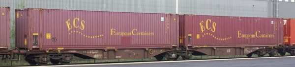 B-Models 59102  Container Cars Sggmrss 90', Touax