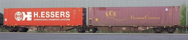 B-Models 59103  Container Cars Sggmrss 90', Touax